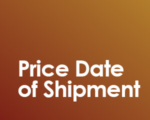 pricing volatility and price date of shipment